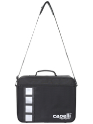 "PRO MEDICAL BAG   (17.25"" L x 5.37"" W x 10.75"" H)  --  BLACK SILVER"