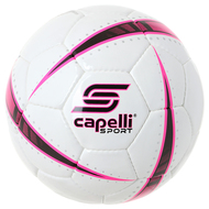 ATOM HAND STITCHED SOCCER BALL -- WHITE NEON PINK BLACK