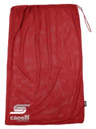 ELITE SA DRAWCORD  SOCCER BALL BAG  --  RED