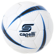 ATOM HAND STITCHED SOCCER BALL -- WHITE PROMO BLUE BLACK
