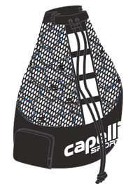 ELITE SA LARGE  BALL  BAG  (HOLDS  15  SIZE 5 BALLS)    --    BLACK WHITE