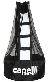 ELITE SA SMALL BALL  BAG  ( HOLDS 5 SIZE 5 BALLS )     --   BLACK   WHITE