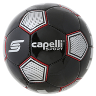 ASTOR HAND STITCHED SOCCER BALL  --  BLACK RED