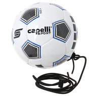 ASTOR HAND STITCHED SOCCER BALL W. CORD--WHITE BLUE