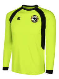 BIG CAT RAVEN LONG SLEEVE GOALIE JERSEY -- LIME BLACK