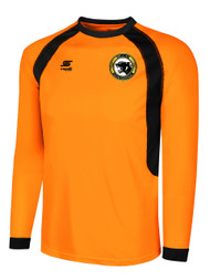 BIG CAT RAVEN LONG SLEEVE GOALIE JERSEY -- NEON ORANGE BLACK