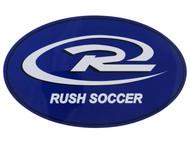 SJEB RUSH SOCCER BUMPER MAGNET - WHITE PROMO BLUE