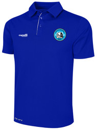 RUSH WISCONSIN WEST POLY POLO --  ROYAL BLUE  WHITE