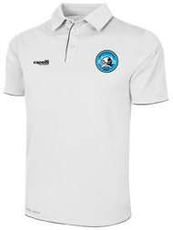 RUSH WISCONSIN WEST POLY POLO -- WHITE BLACK