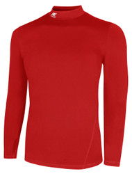 BIG CAT TUNDRA LONG SLEEVE MOCK TURTLENECK PERFORMANCE TOP  -- RED