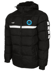 RUSH WISCONSIN WEST DUCKS COMPETITIVE SPARROW WINTER JACKET --BLACK WHITE