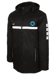 RUSH WISCONSIN WEST DUCKS COMPETITIVE SPARROW STADIUM  JACKET -- BLACK WHITE