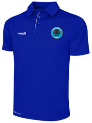 RUSH WISCONSIN WEST DUCKS COMPETITIVE POLY POLO --  ROYAL BLUE  WHITE