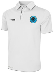RUSH WISCONSIN WEST DUCKS COMPETITIVE POLY POLO -- WHITE BLACK