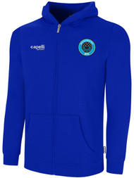 RUSH WISCONSIN WEST DUCKS COMPETITIVE BASICS ZIP UP HOODIE  -- ROYAL BLUE WHITE