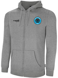 RUSH WISCONSIN WEST DUCKS COMPETITIVE BASICS ADULTS ZIP UP HOODIE  --  LIGHT HEATHER GREY
