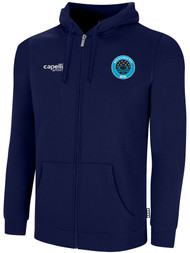 RUSH WISCONSIN WEST DUCKS COMPETITIVE BASICS ADULTS ZIP UP HOODIE  --  NAVY WHITE