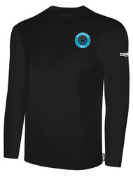 RUSH WISCONSIN WEST DUCKS COMPETITIVE BASICS LONG SLEEVE TEE  -- BLACK WHITE **   YXS  IS ON BACK ORDER, WILL BE SHIPPED BY 1/6 -1/10
