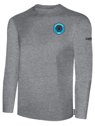 RUSH WISCONSIN WEST DUCKS COMPETITIVE BASICS LONG SLEEVE TEE  -- LIGHT HEATHER GREY BLACK