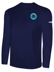 RUSH WISCONSIN WEST DUCKS COMPETITIVE BASICS LONG SLEEVE TEE  -- NAVY WHITE