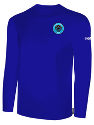 RUSH WISCONSIN WEST DUCKS COMPETITIVE BASICS LONG SLEEVE TEE  -- ROYAL BLUE WHITE