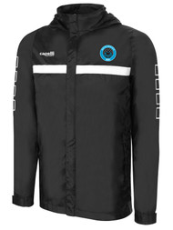 RUSH WISCONSIN WEST  DUCKS COMPETITIVE SPARROW RAIN JACKET  --  BLACK WHITE