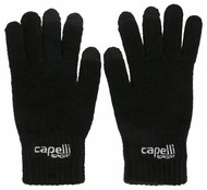 RUSH WISCONSIN WEST DUCKS COMPETITIVE BASICS KNIT GLOVES  --  BLACK WHITE