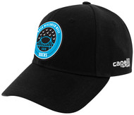 RUSH WISCONSIN WEST DUCKS COMPETITIVE  CS BASEBALL CAP --  BLACK WHITE ** ON BACK ORDER, WILL BE SHIPPED BY 2/3-2/7