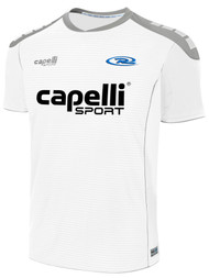 CAJUN RUSH LAFAYETTE SPARROW MATCH SHORT SLEEVE AWAY JERSEY  --  WHITE GREY