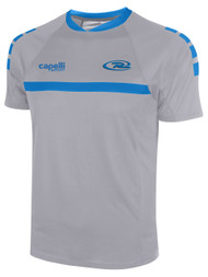 CAJUN RUSH LAFAYETTE SPARROW SHORT SLEEVE TRAINING JERSEY --  GREY BLUE