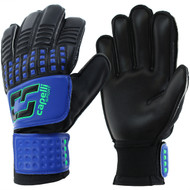 CAJUN RUSHCS 4 CUBE TEAM YOUTH GOALKEEPER GLOVE  -- PROMO BLUE NEON GREEN BLACK