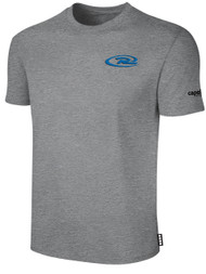 CAJUN RUSH SHORT SLEEVE TEE SHIRT  -- LIGHT HEATHER GREY