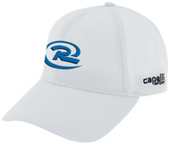 CAJUN RUSH CS II TEAM BASEBALL CAP --  WHITE BLACK