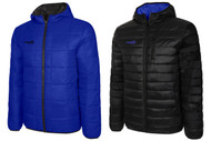 MICHIGAN LANSING RUSH REVERSIBLE LIGHTWEIGHT JACKET WITH HOOD    --  ROYAL BLUE  BLACK