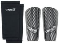 COLTS NECK CAPELLI SPORT GRADIENT CUBES SHIN GUARDS -- BLACK SILVER METALLIC