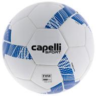 COLTS NECK TRIBECA PRO THERMAL BONDING SOCCER BALL --  WHITE ROYAL BLUE