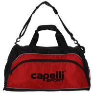 COLTS NECK  MEDIUM DUFFLE BAG -- BLACK RED WHITE