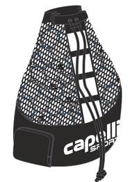 COLTS NECK LARGE  BALL  BAG  (HOLDS  15  SIZE 5 BALLS)    --    BLACK WHITE