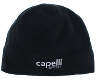 COLTS NECK FLEECE HAT    --  BLACK WHITE