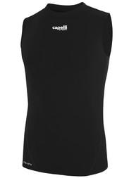 COLTS NECK CS COOL SLEEVELESS COMPRESSION SHIRT  -- BLACK