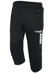 COLTS NECK 3/4 GOALIE PANTS WITH PADDING -- BLACK WHITE