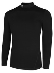 COLTS NECK CS  WARM LONG SLEEVE COMPRESSION SHIRT WITH  TURTLENECK -- BLACK      $30 - $32