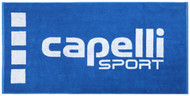 "COLTS NECK 55.11"" x 27.55"" COTTON JACQUARD TEAM TOWEL -- ROYAL BLUE WHITE"