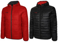 COLTS NECK REVERSIBLE LIGHTWEIGHT JACKET WITH HOOD    --  RED  BLACK