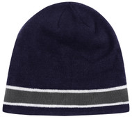 EASTERN NY CS ONE STRIPED KNIT BEANIE -- NAVY COMBO