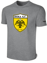 DOXA SC COTTON SHORT SLEEVE T-SHIRT -- LIGHT HEATHER GREY BLACK  $14 - $16