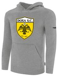 DOXA SC FLEECE PULLOVER HOODIE -- LIGHT HEATHER GREY BLACK$40 - $45