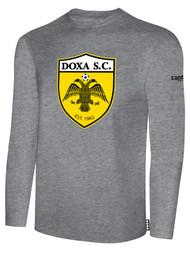DOXA SC COTTON LONG SLEEVES T-SHIRT  -- LIGHT HEATHER GREY  $16 - $18