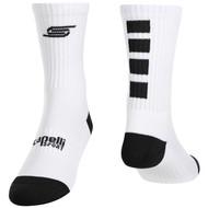 CAEPLLI SPORT 4 CUBE CREW  SOCKS   --     WHITE BLACK