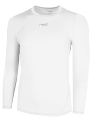 W9 SOCCER LONG SLEEVE PERFORMANCE TOP   ---  WHITE